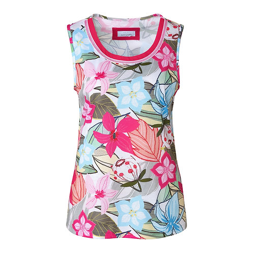 Just White Flower Print Cami 42593