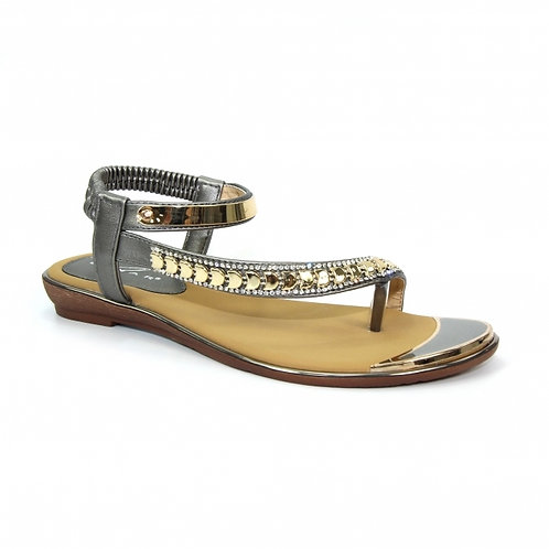 Asia Gemstone Pewter Sandal