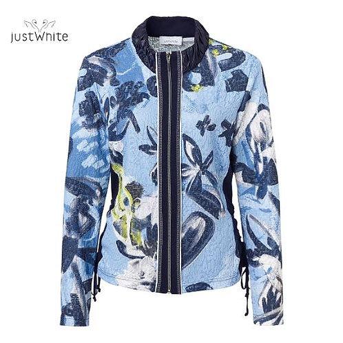 Just White Zip Front Jacket 43695