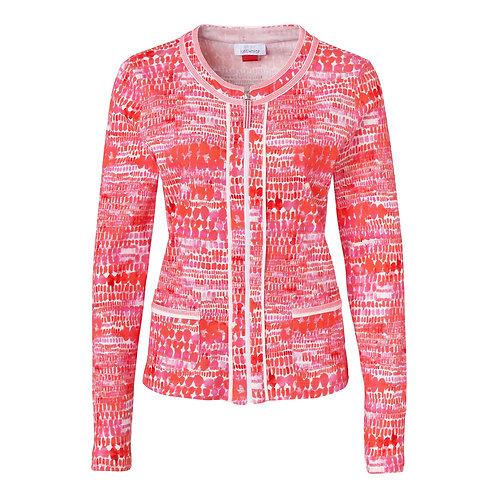 Just White Orange/Pink Zip Front Jacket 42291
