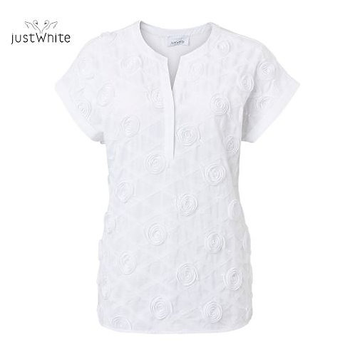 Just White Blouse 43846