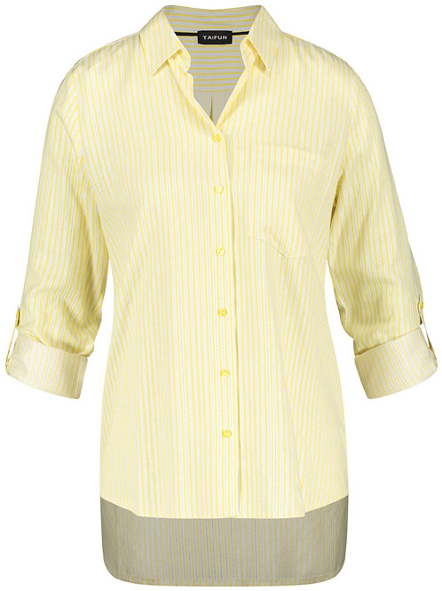 Taifun Wite Yellow Stripe Shirt 560007
