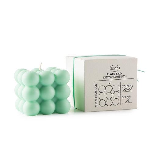 Bubble candle | Mint | Elate & Co