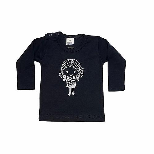 Shirt I Meisje | Zwart | MarGoCadeau