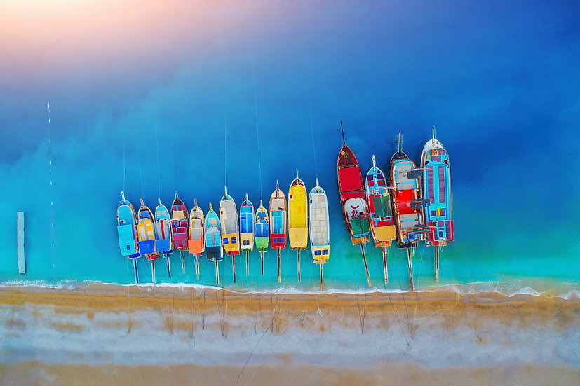 Boats of Many Colours