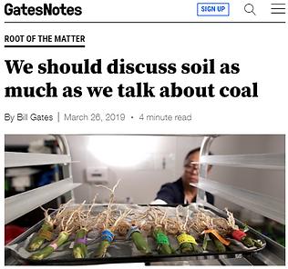 Gates Notes Soil Coal Agriculture