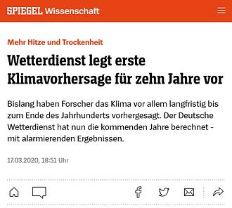 Spiegel Deutscher Wetterdienst Klimawandel