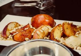 Das Ergebnis: Gebratener Pfirsich mit Rosmarin!
