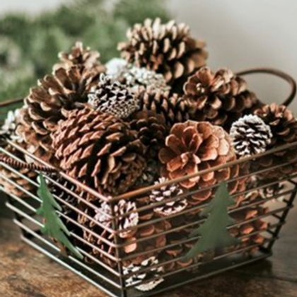Rustic Pine Cone Gift Basket for Shipping