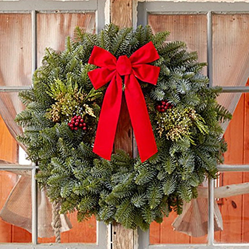 "28"" Mixed Evergreen Wreath"