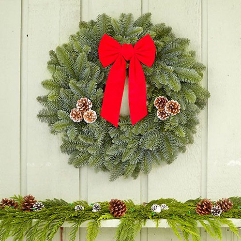 "22"" Noble Fir Wreath"