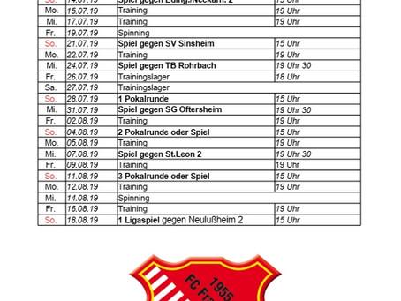 1. Herren, Saisonvorbereitung 2019/2020