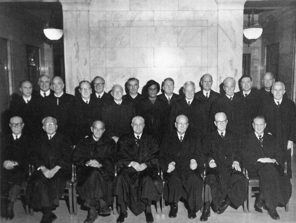 The judges of the US court for the Southern District of New York, 1966.