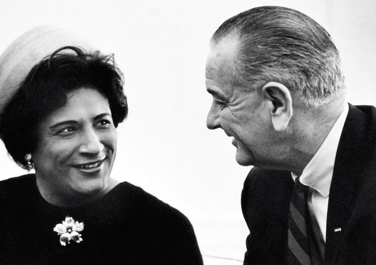 Constance Baker Motley, Manhattan Borough President, chats with President Johnson after he named her to be a federal district judge