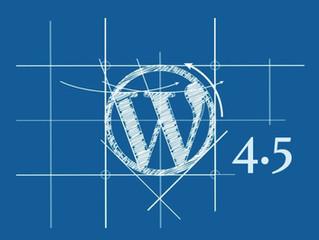 WordPress 4.5 Sürümü Çıktı