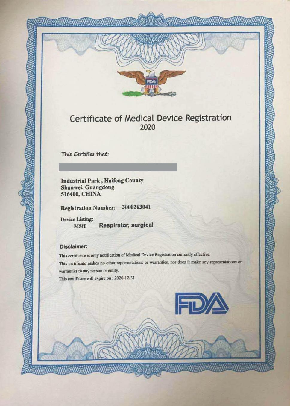 Cert_FDA