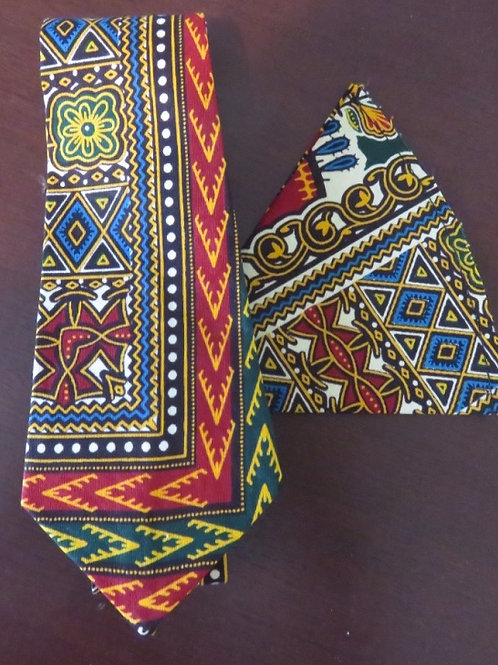 Traditional Necktie and Pocket Square Set