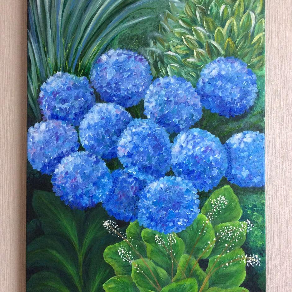 Blue Hortensia/Belinda Mepham