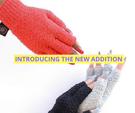 Hygienic Fingerless Dark Parts Exfoliating Gloves