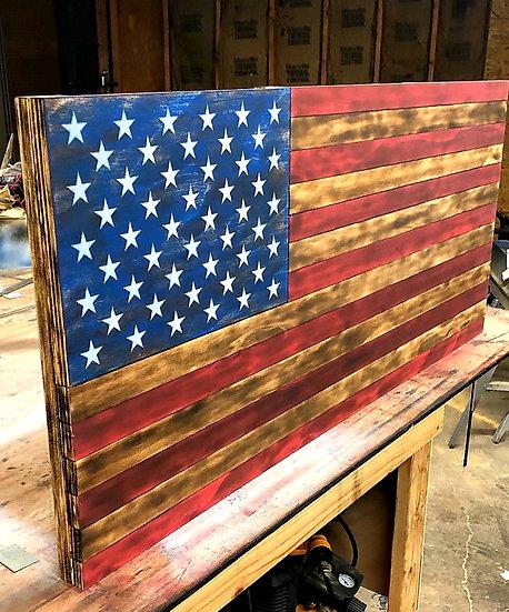 Handmade Wooden Wall Flags