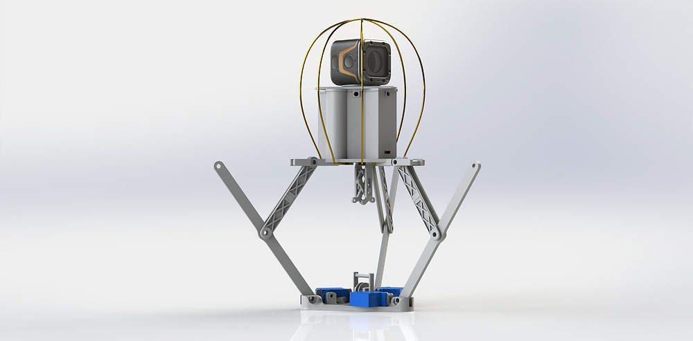 Jumping robot product render