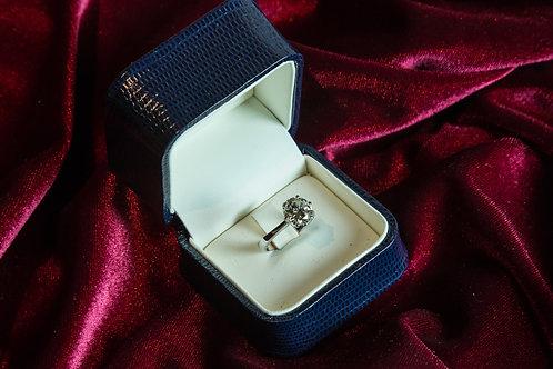 Anello SOLITARIO diamante ct 2,57 in oro bianco