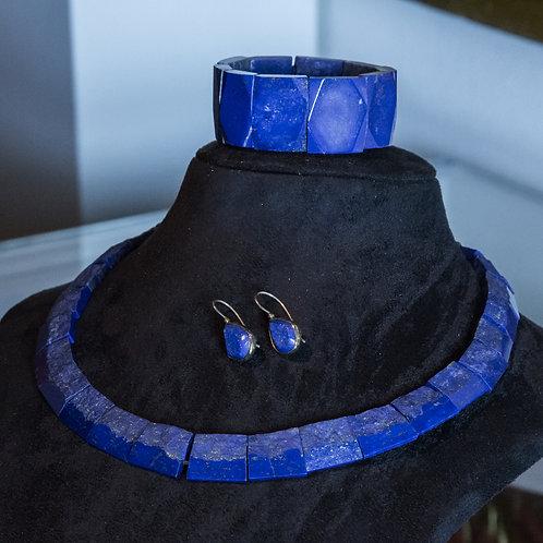 Parure in lapislazzuli collana - bracciale - orecchini