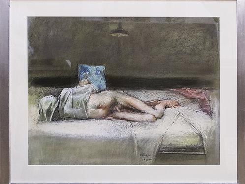 """Giovanni CAPPELLI, """"Ostaggio"""", pastello su cartoncino telato, 1992,"""