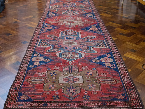 Splendida passatoia armena in lana e cotone, '900