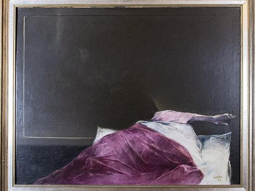 """Giovanni CAPPELLI """"Figura insonne"""", 1973"""