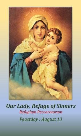 PRAYER CARD -Refuge of Sinners