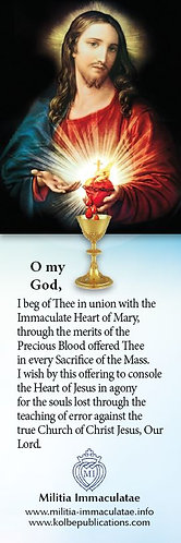 Book Mark- Precious Blood/MI Ejaculatory Prayer