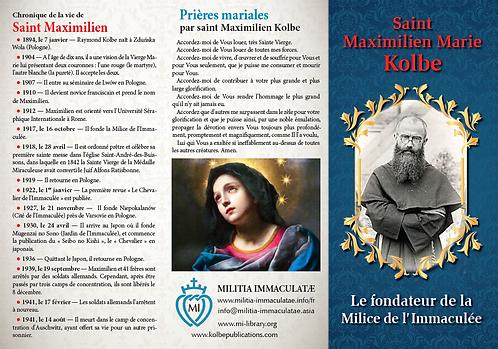 Dépliants-Saint Maximilien Maria Kolbe