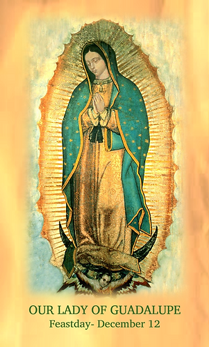 PRAYER CARD - Our Lady of Guadalupe