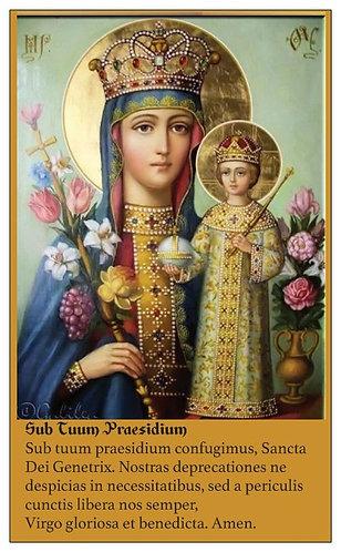 PRAYER CARD - THEOTOKOS