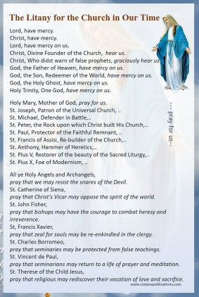 Mega Cards/BookMarks-  Litany for the Church of Our Times