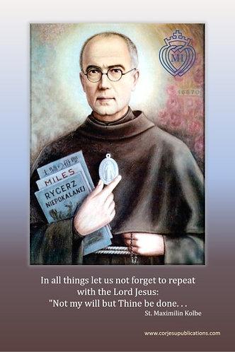 Post/Note card -St Maximilian Kolbe