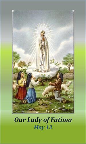 PRAYER CARD -Our Lady of Fatima