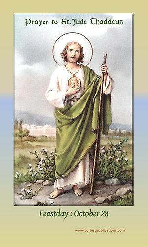 Prayer Card   To St. Jude Thaddeus