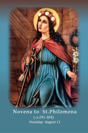 Mega Cards/BookMarks-Novena to St Philomena