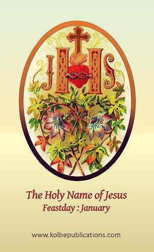 PRAYER CARD  -Holy Name of Jesus
