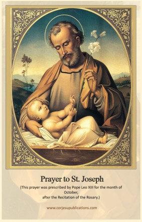 Mega Cards/BookMarks - St Joseph  after Rosary Prayer