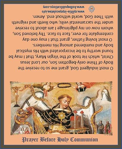 Prayer Cards-St Thomas Aquinas -after communion