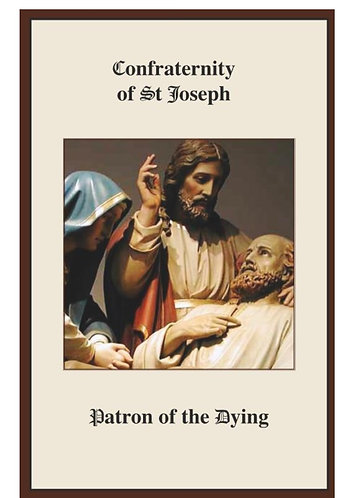 Prayer Card -St Joseph Confraternity Prayer for the Dying