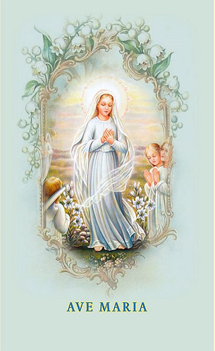 Children 's Hail Mary  Prayer in Latin