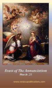PRAYER CARD -Feast of Annunciation