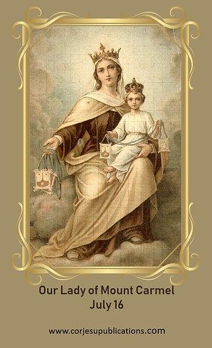 PRAYER CARD- Our Lady of Mount Carmel