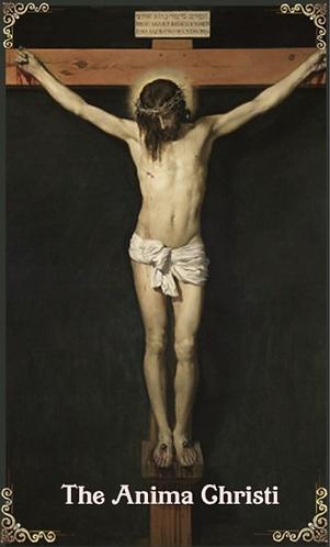 prayer card- Anima Christi version 1( English )
