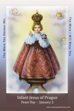 Post/Note card- Infant Jesus of Prague