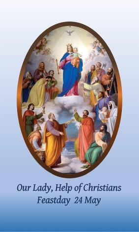 PRAYER CARD -Help of Christians
